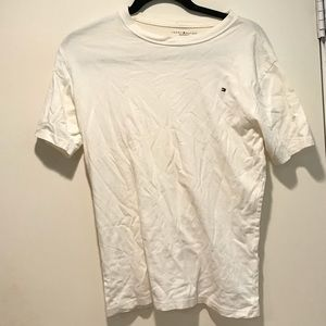 Tommy Hilfiger White Simple Tee